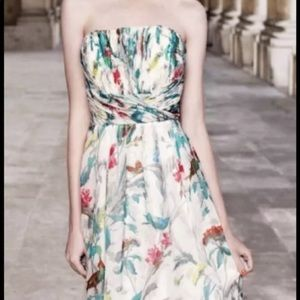 NWT Ted Baker Birds of Paradise Strapless Dress